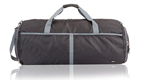 AmazonBasics - Bolsa de viaje y deporte de lona plegable, 69 cm, 75 litros