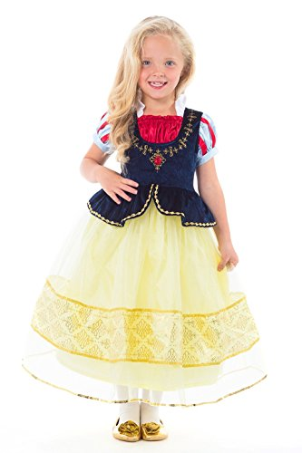 Kostüm Up White Dress Snow - Little Adventures Deluxe Snow White Dress up Kostüm für Mädchen - X-Groß (7-9 Jahre)