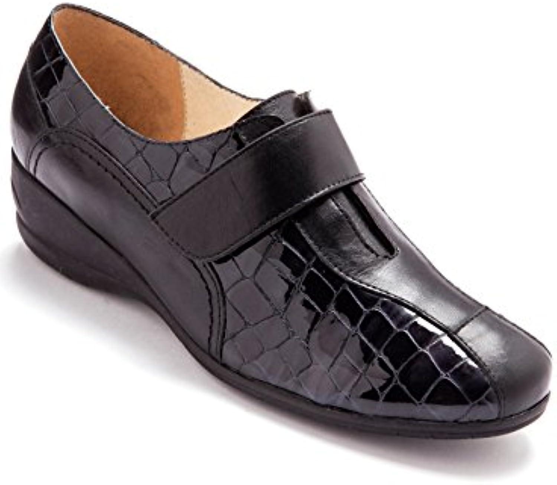 Pediconfort - Chaussures derbies auto-agrippante à patte auto-agrippante derbies largeur confort b7dada