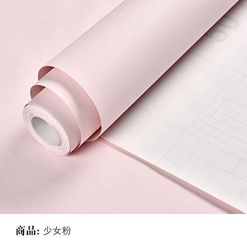 lsaiyy Tapete Selbstklebende Schlafzimmer tapete wasserdicht PVC Reine pigmentfarbe schlafsaal wandaufkleber tapete-60 cm X 5 Mt