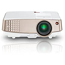 """Video Projector Mini HD, EUG 2600 Lumens Portable LED Home Theater Projector HDMI/ USB/ VGA/ Audio Multimedia LCD Projector Max 120"""" Screen for Home Entertainment Movie Games PC Laptop iPhone Xbox TV"""