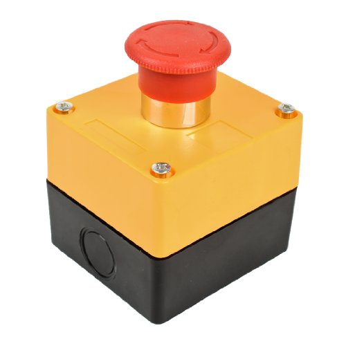 240V 3A Latching Not Stop Mushroom Push Button Switch Station -