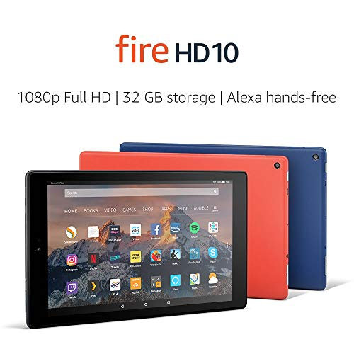 Fire HD 10 Tablet, 1080p Full HD Display, 32 GB, Black-with Special Offers Img 1 Zoom