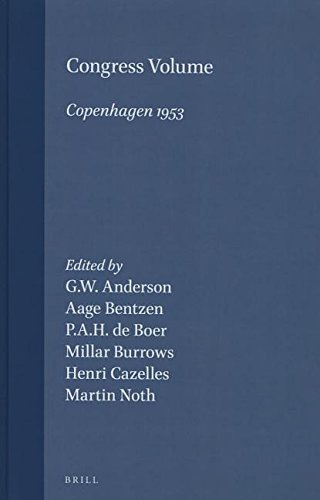 Congress Volume Copenhagen 1953