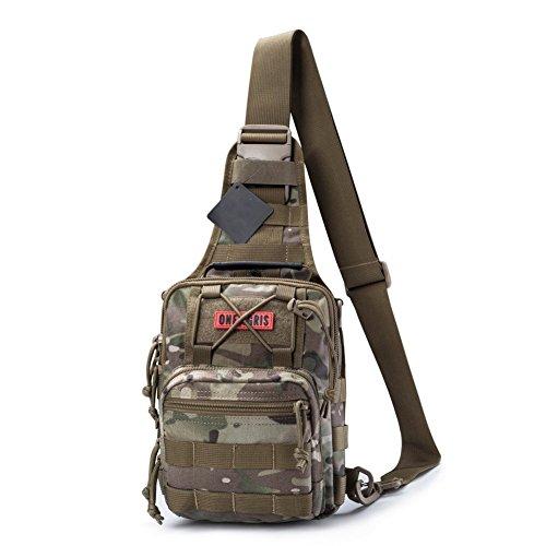 ische Molle Umhängetasche EDC Brusttasche für Outdoor-Aktivitäten (Camo) (Camo Dinge)