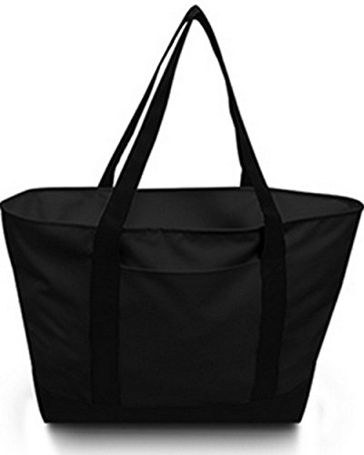Bay View Giant Zippered Boat Tote BLACK/ BLACK OS (Handtasche Zippered Tote)