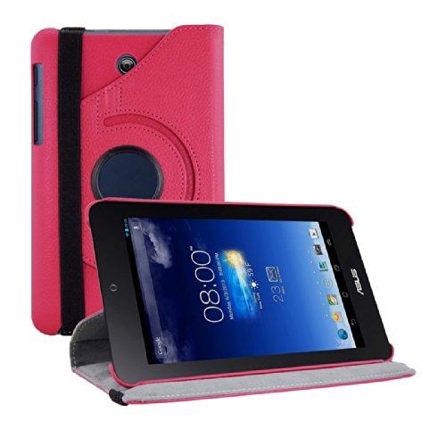 kwmobile Funda para ASUS Memo Pad HD 7   Case de 360 Grados de Cuero sintético para Tablet   Smart Cover Completo y Plegable para Tableta en Rosa Fucsia