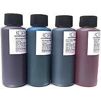 4 X Botellas de tinta comestible de 100ml para usar con impresoras Canon. Bramacartuchos, envío desde Madrid (4 Colores)
