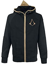 Assassin's Creed Logo Sweat à capuche zippé noir/or