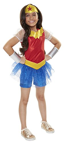 DC Comics Superhero Mädchen Wonder Woman Everyday verkleiden Outfit (One (Kind Kostüm Starfire)