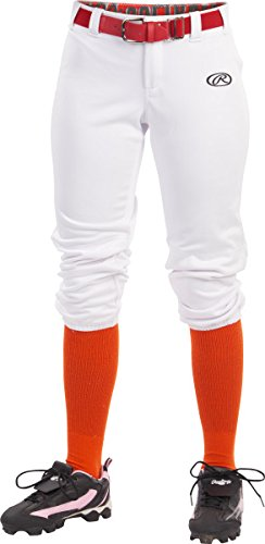 Rawlings Sporting Goods Damen Launch Hose, Damen, weiß, Medium (Rawlings Hose Baseball)