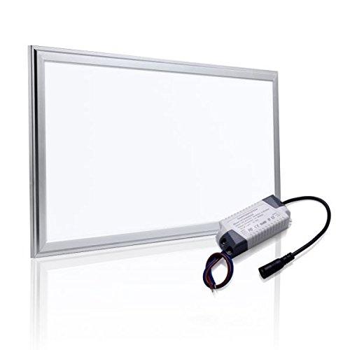 Preisvergleich Produktbild Auralum® 10 Jahre Garantie 30x60x0.9cm 18W Deckenleuchte Dicke 9mm LED Panel Deckenlampe mit Seil 1170LM 2800-3200K Warmweiß SMD Ultraslim