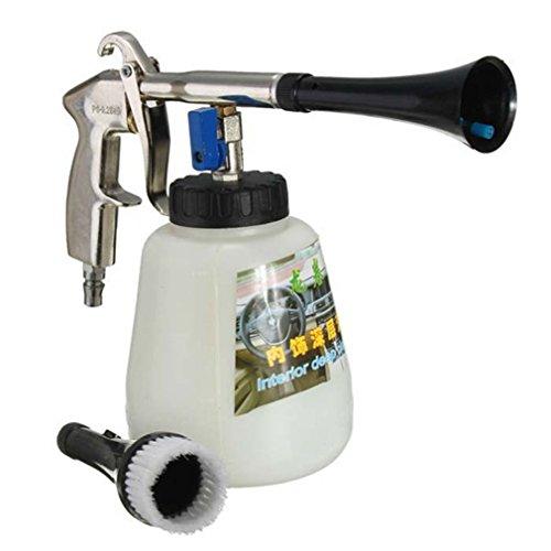 LanXi® Auto Druckluft Reinigungspistole Set Drucklutfpistole Sprühpistole mit Bürste Innenraumpflege (Weiß)
