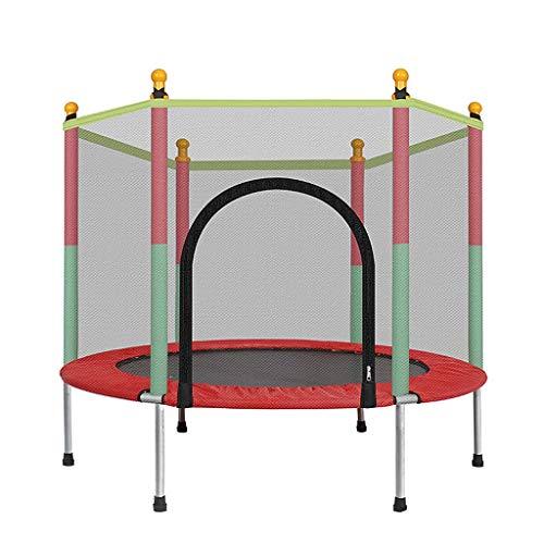 Runde 55 Zoll Kinder Mini Trampoline Enclosure Net Pad Outdoor Übung Heim Spielzeug Springen Bett Max Load 200 KG