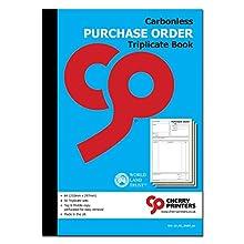 Cherry Carbonless NCR Livres de commande A4 A5 - Dupliqué, Triplicate (A4 Triplicate)