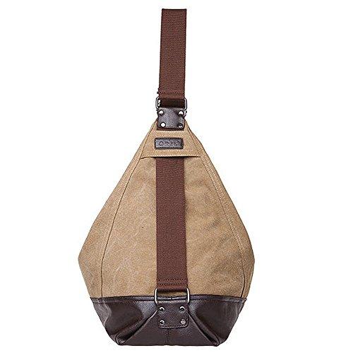 Padgene Modisch Canvas Damen Handtasche Schultertasche Shopper (Khaki) Khaki