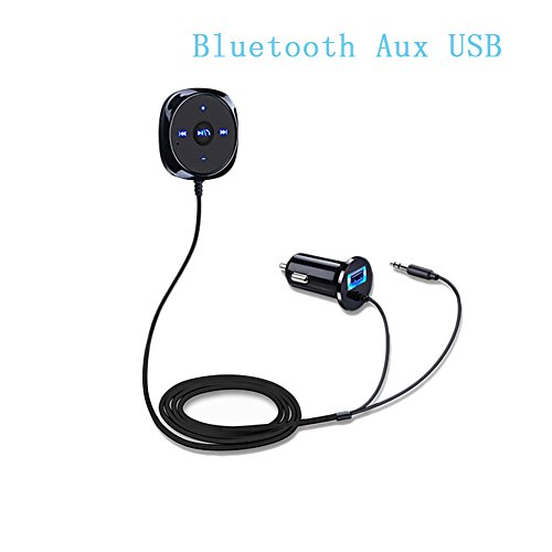 Auto-MP3-Player Bluetooth-Freisprecheinrichtung Car Kit Wireless-Radio-Audio-Adapter mit USB-Ladegerät, LCD-Display, 3,5 mm AUX-Kabel, USB-Flash-Laufwerk-Port für iPhone, iPad, iPod, HTC, MP3,MP4
