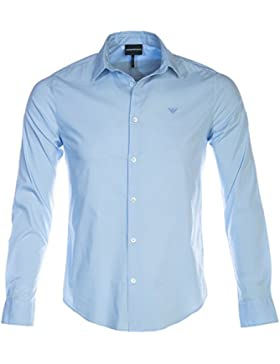 Emporio Armani Uomo Camicia Slim Fit Stretch Azzurro