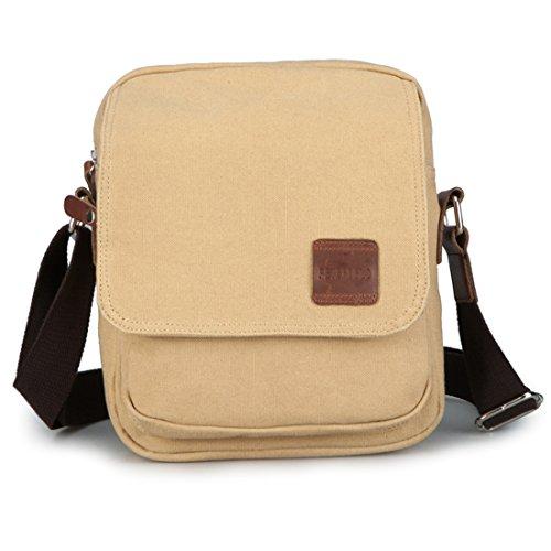 HT  Canvas Bag, Borsa Messenger  Uomo Khaki