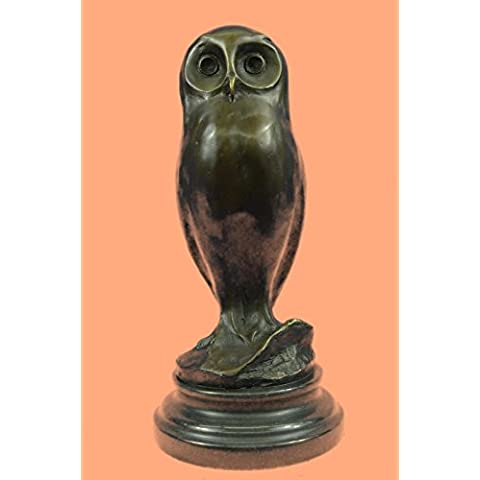 Firmado Por Milo Owl Bird Esculturas de animales, estatuas, estatuillas, Regalos, Coleccionismo Bronce ... 10