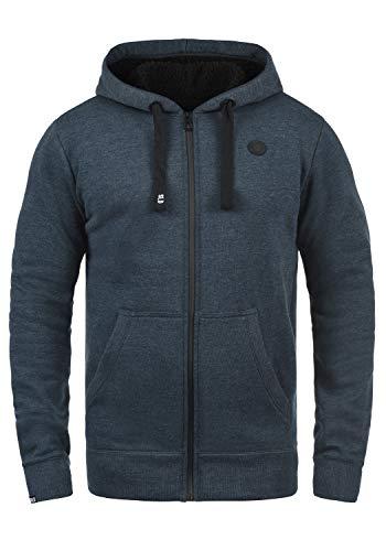 !Solid Bene Zip Hood Pile Herren Winter Sweatjacke Kapuzen-Jacke Zip-Hoodie Pullover mit Kapuze und Teddy-Futter, Größe:XL, Farbe:INS BLU M (P8991)