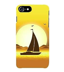 HiFi Designer Phone Back Case Cover Apple iPhone 7 :: Apple iPhone7 ( Sailing Ship Oil Paint Look In sea )