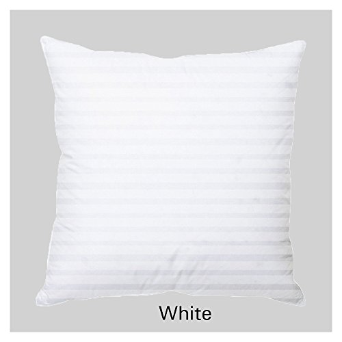 Splendid SPECIAL OFFER...!!!Set of 2 Premium Quality 300 Thread Count 100% Egyptian Cotton Stripe Cushion Covers/Throw Pillow Covers 12 Inch X 12 Inch White  available at amazon for Rs.139