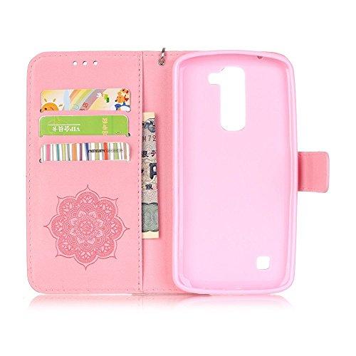 Linvei iPhone 6 Case 4.7 (Zoll)- Protective Case Wallet Cover Leder Tasche für iPhone 6 Case -Schutzhülle in Baby Pink Rosa