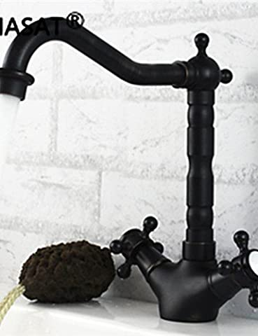 YFF@ILU Home deco PHASAT Deck Mounted Two Handles One Hole with Oil-rubbed Bronze Kitchen faucet