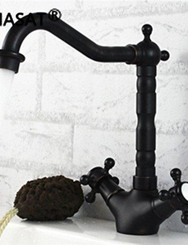 BBSLT- montato due manici con un foro rubinetto della cucina in bronzo lucidato a olio