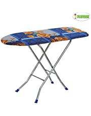 """Flipzon Wooden Self Standing 18"""" Unique Folding Ironing Board with Iron Stand - (Color May Vary, Multi-Color) - (Make in India)"""