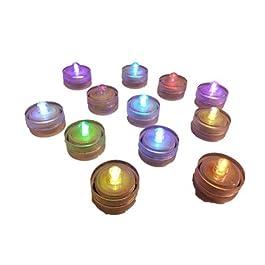 Cristales & Gemas GB 12x Floralyte submerisble cambia de color luces LED