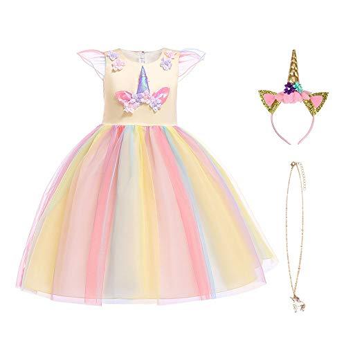 URAQT Disfraz Unicornio Niña, Vestidos Unicornio Niña, Disfraz de Princesa, para Fiesta de Cosplay...