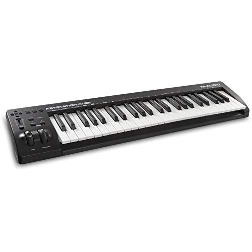M-Audio Keystation 61 MKIII Kompakter 61-Tasten MIDI Keyboard Controller mit zuweisbaren Reglern, Pitch/ Modulation Rädern, Plug-And-Play (Mac/PC) Konnektivität und Software Production Suite
