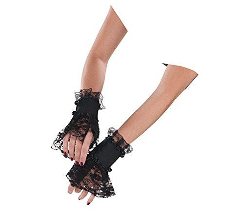 Handschuhe SPITZEN MANSCHETTEN Verkleidung Kostüme für HALLOWEEN und FASCHING