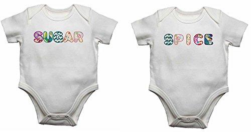 Zucker Spice-Baby Westen Bodys Baby wächst für Jungen, Mädchen-weiß-Neugeborene
