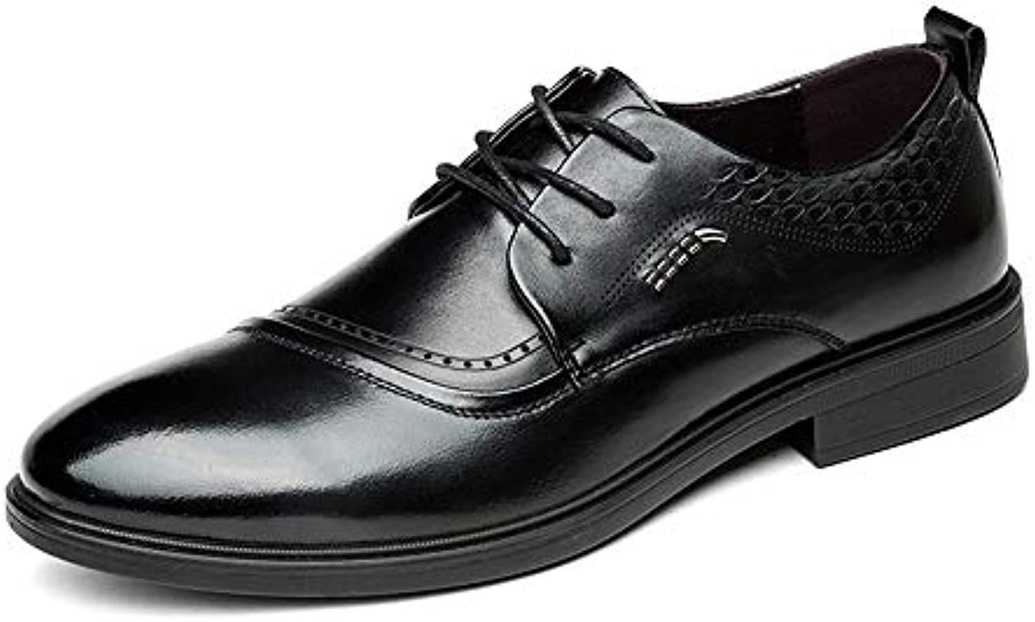 XHD-Scarpe Men's Simple Business Oxford Scarpe Classiche Inglesi Confortevoli in Pelle Casual Classica | In Breve Fornitura
