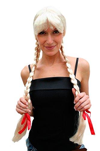 WIG ME UP Perücke BLOND Lange Zöpfe ALM Heidi Holland Frau Antje (Blonde Perruque Halloween)