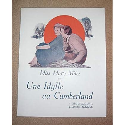 Dossier de presse de Une Idylle au Cumberland (1920) - 22x27,5 cm, 4 p – Film muet de Charles Maigne avec Miss Mary Miles – Photos N&B - résumé du scénario – Bon état.