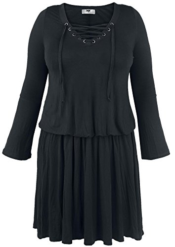 Black Premium by EMP Corded Swing Dress Abito nero XL