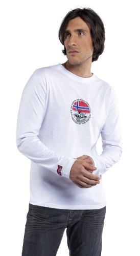 Nebulus T-shirt manches longues Tailor XXXL Weiß