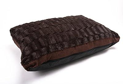 LUXURIOUS Medium/Extra Large Luxury Fur Dog Bed Cushion Washable Zipped Mattress (promotional price)