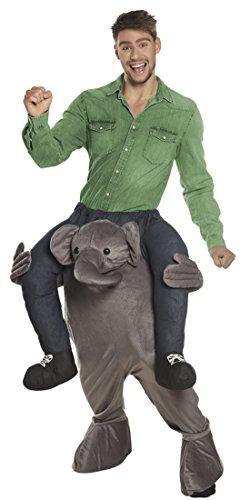Elefanten Kostüm huckepack Mann Anzug lustiges Kostüm , L/XL, Mehrfarbig (Affe Kostüm Für Männer)