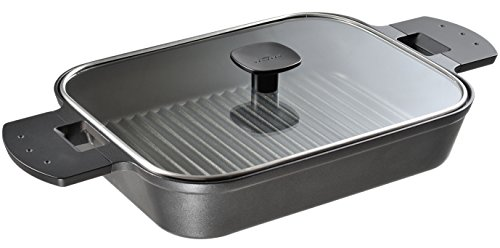 UchiCook 60-1016-05 Steam Grill Glass Cover, Black
