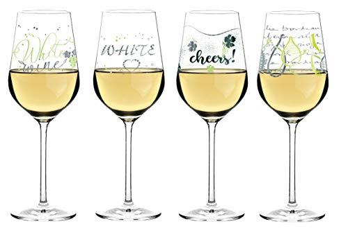 Ritzenhoff White Weißweinglas 4er Set | L.Kühnertová, S.Röhse, V.Romo, K.Stockebrand | Kollektion Herbst 2018