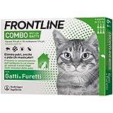 Frontline Combo, 6 Pipette, Antiparassitario per Gatti, Gattini e Furetti di Lunga Durata, Protegge da Pulci, Zecche, Uova, L