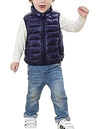 Chaleco Infantil Niño Chaqueta Sin Manga Invierno Chaquetas de Plumón