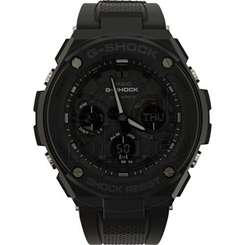 casio orologio analogico-digitale uomo con cinturino in resina gst-w100g-1ber
