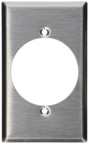 Leviton 840281Gang Flush Mount 2.15-inch Durchmesser, Gerät mit Wanddose Behälter, Gerät Mount, Edelstahl -