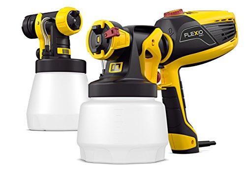 Wagner Farbsprühgerät W 590 FLEXiO für Dispersions-/Latexfarben, Lacke & Lasuren im Innen- & Außenbereich, 15 m²-6 min, Behälter 1300 ml/800 ml, 630 W